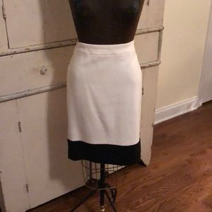 JCrew Factory NWT Black and Cream Pencil Skirt